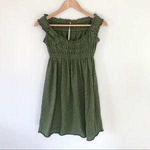 Free People Smocked Babydoll Summer Mini Dress